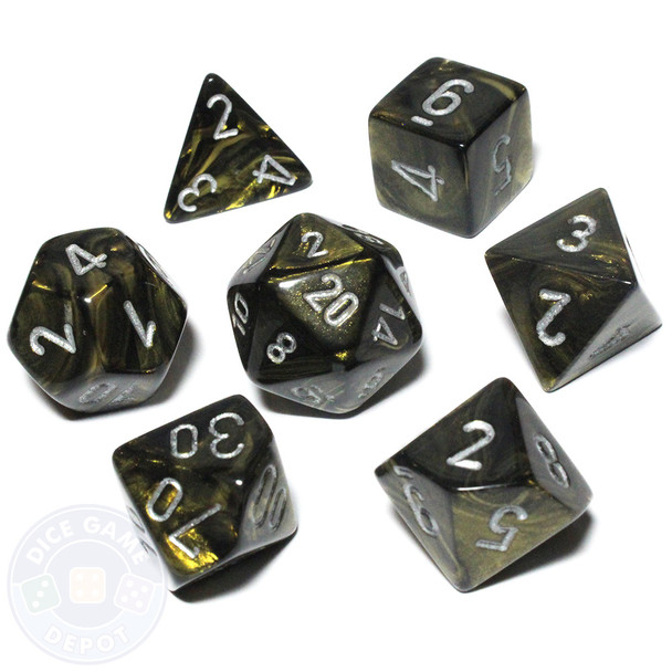 Leaf Black and Gold dice set