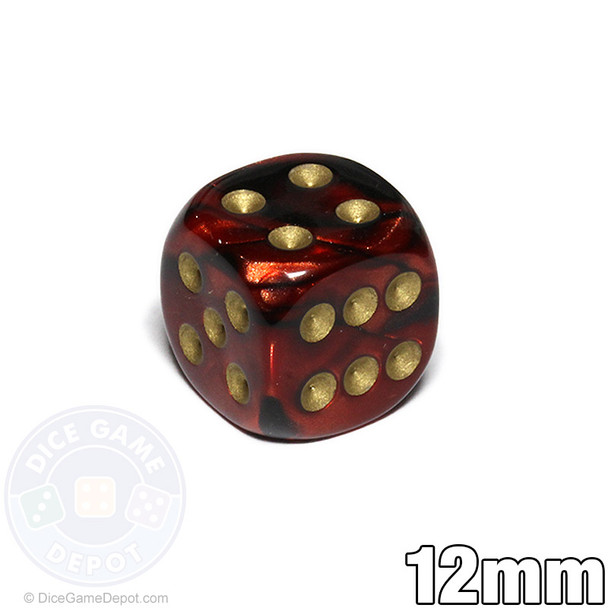 12mm Scarab Blue Blood dice
