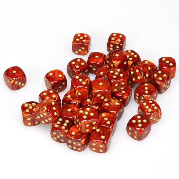12mm Scarab Scarlet dice - Set of 36