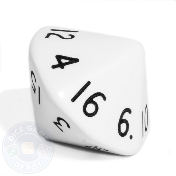 d16 - 16-sided dice - White