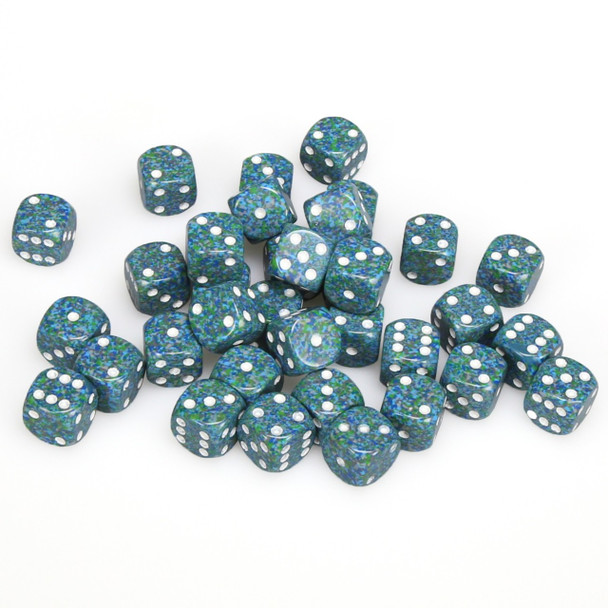 12mm Speckled Sea d6s - Set of 36