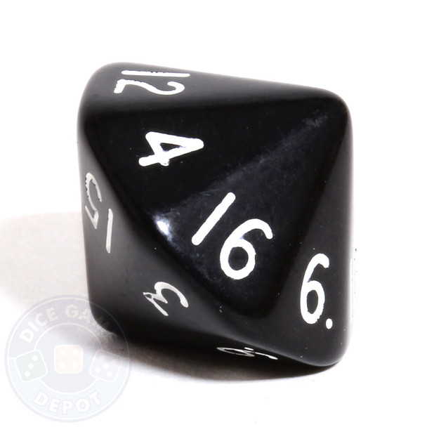 d16 - 16-sided dice - Black