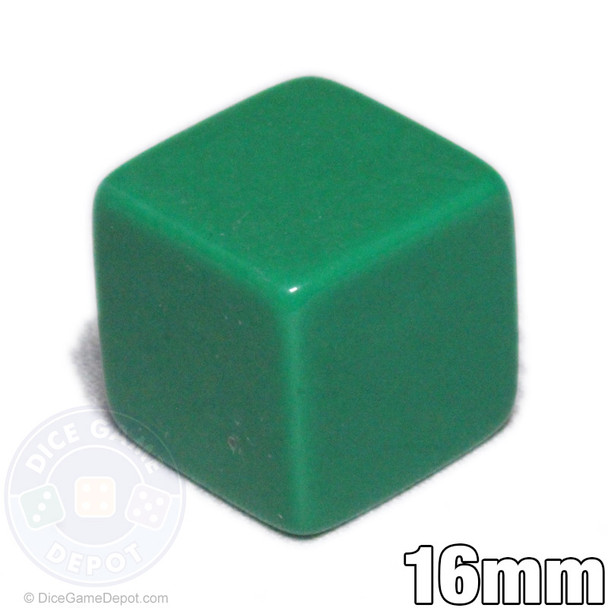 Blank 6-sided green dice