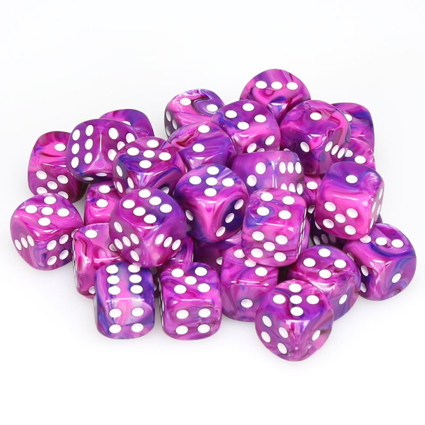 12mm Festive Violet d6s - Set of 36