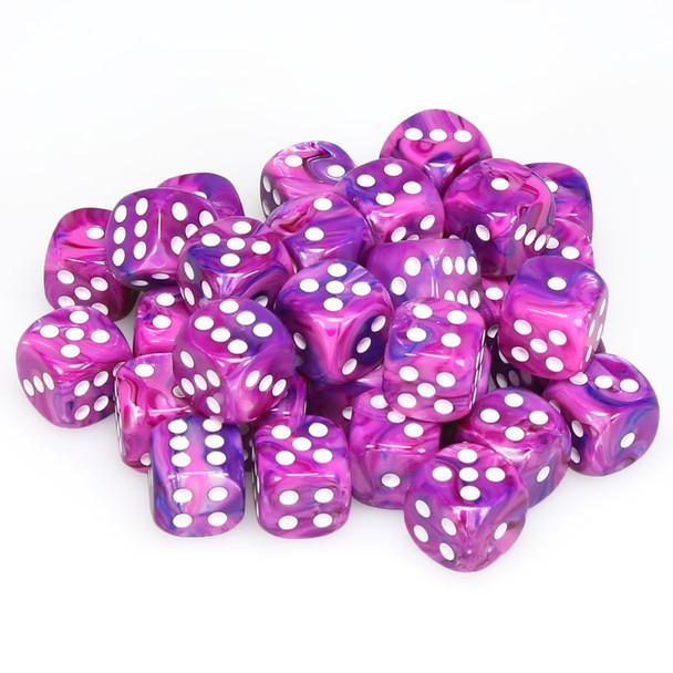 12mm Festive Violet d6s - Set of 36