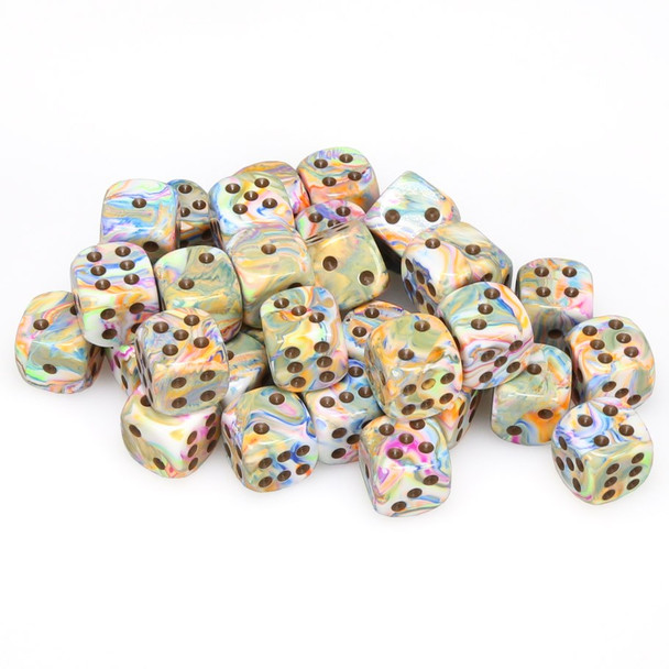 12mm Festive Vibrant d6s - Set of 36