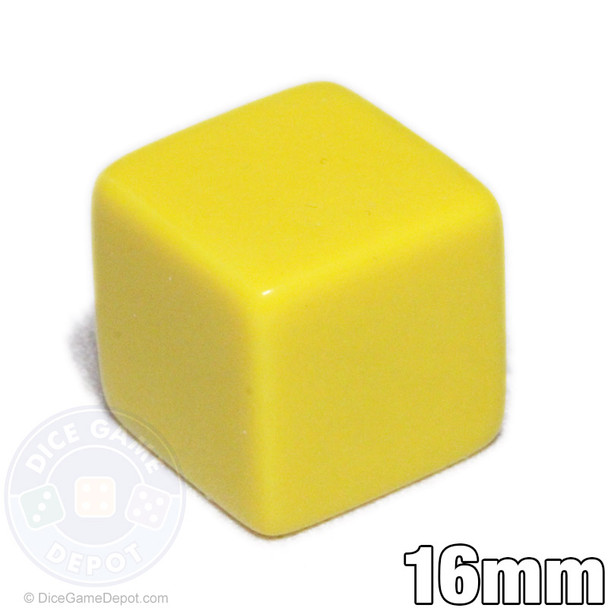 6-sided blank yellow dice
