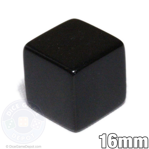 6-sided blank black dice