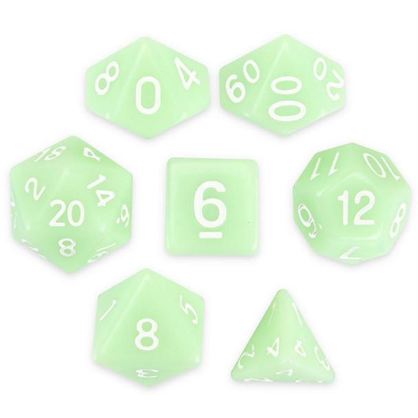 Ghost Jade dice set