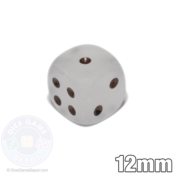 12mm Frosted Clear d6