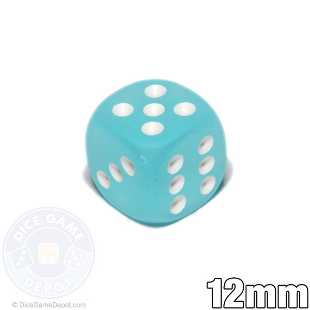 12mm Frosted Teal d6
