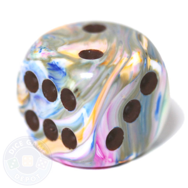 Vibrant Festive d6 dice by Chessex