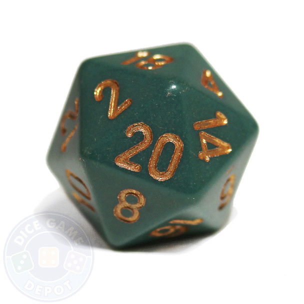 Opaque 20-sided dice - Dusty Green