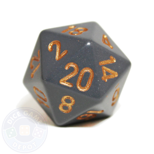 20-sided dice - Dark Gray