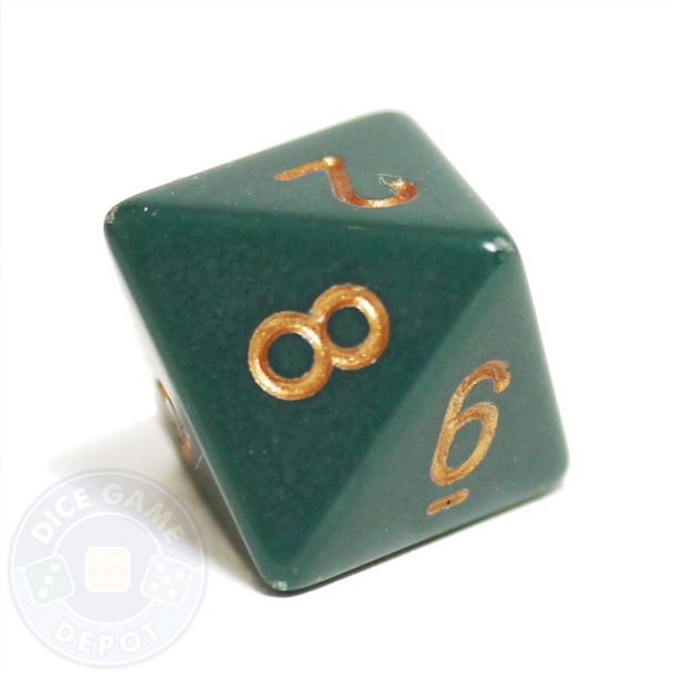 Opaque dusty green d8