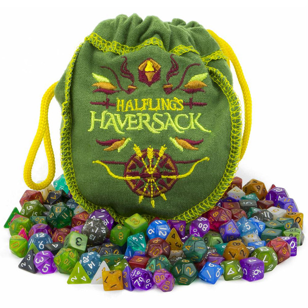 Halflings Haversack dice sets