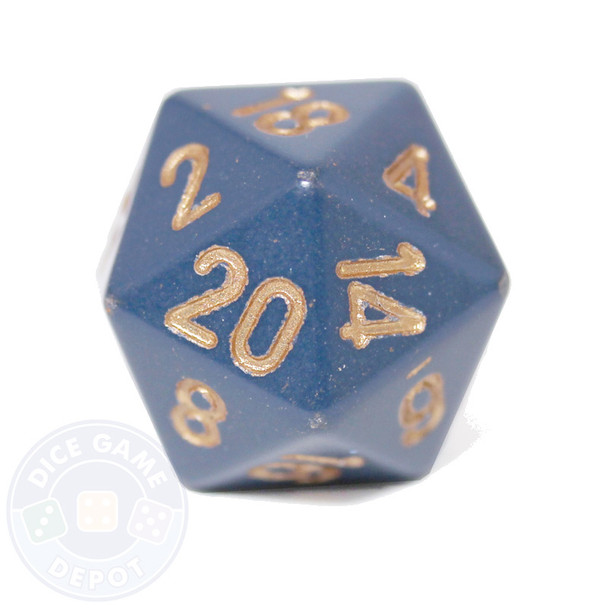 20-sided dice - Dusty Blue