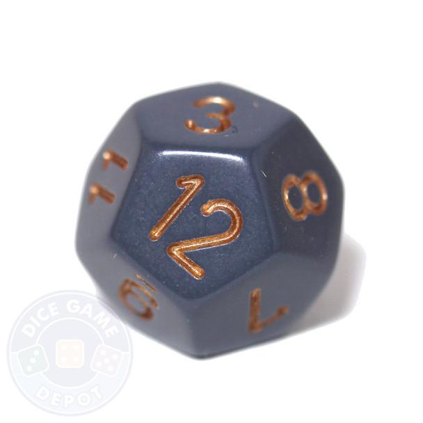 12-sided dice - Dark Gray