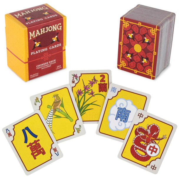 Chinese Mahjong Playing Cards