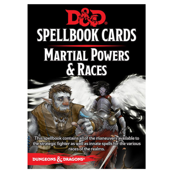 DnD Martial & Race Spellbook Cards
