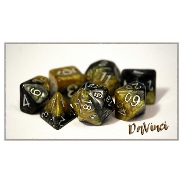 7-piece Halfsies dice set - D&D dice - DaVinci
