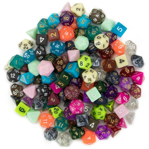 Pack of 100+ random polyhedral dice