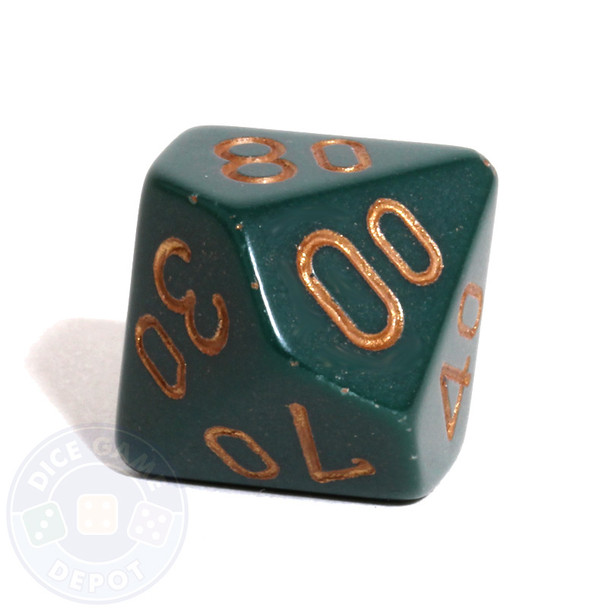 d10 percentile tens dice - Dusty Green