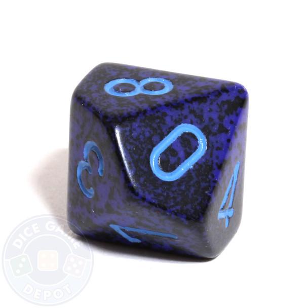 d10 dice - Speckled Cobalt