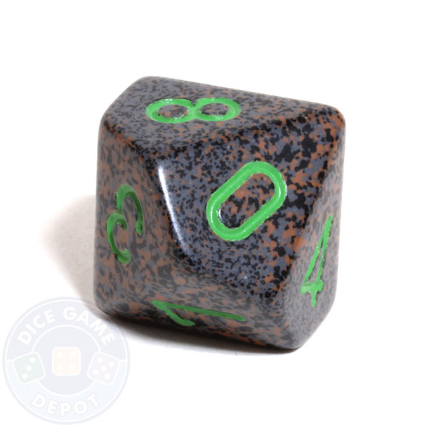 d10 dice - Speckled Earth