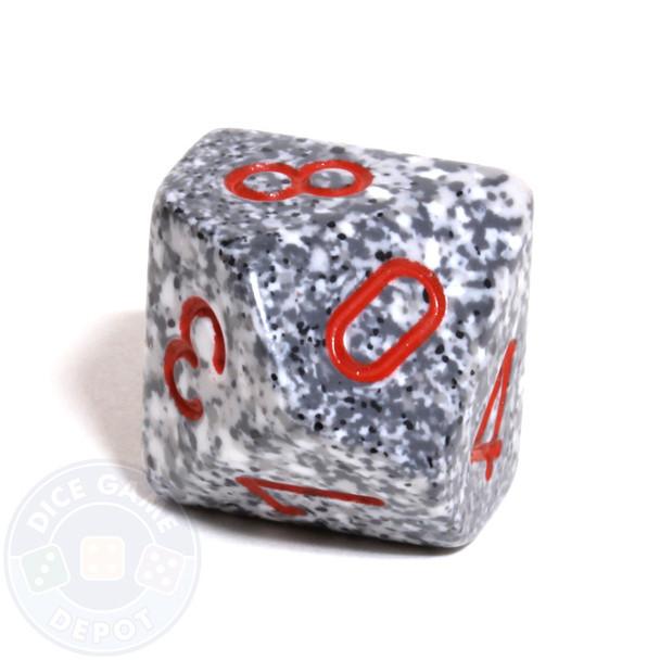 d10 dice - Speckled Granite