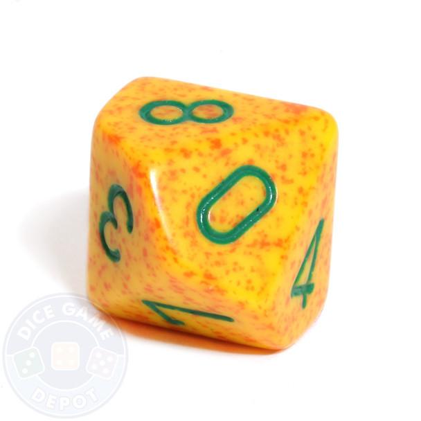 d10 dice - Speckled Lotus