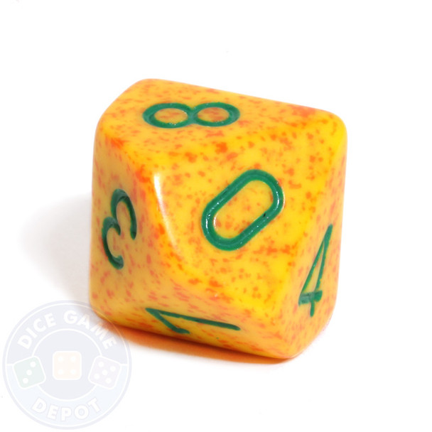 d10 dice - Speckled Lotus