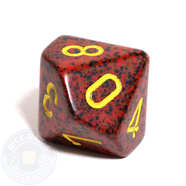 d10 dice - Speckled Mercury