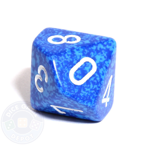 d10 dice - Speckled Water
