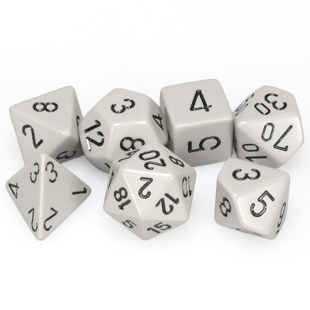 Opaque gray 7-piece D&D dice set