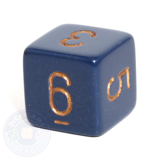 Opaque numeral d6 - Dusty Blue