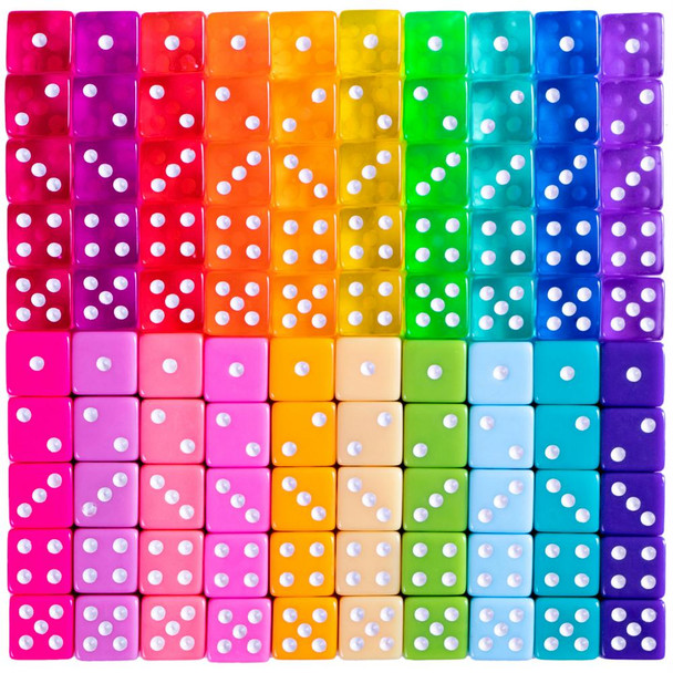 Miami Dice - Set of 100 Six-Sided Dice