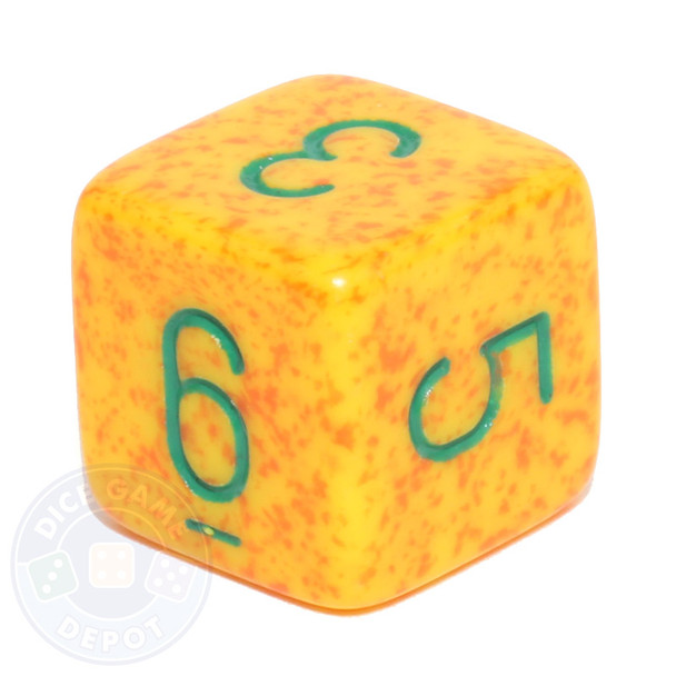 d6 - Speckled Lotus dice
