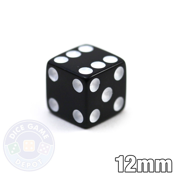 12mm Opaque Black Dice