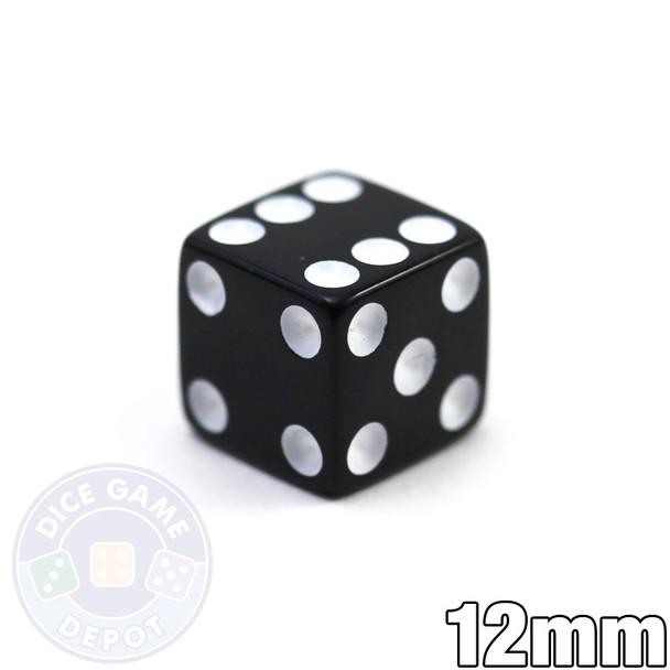 12mm Black Dice