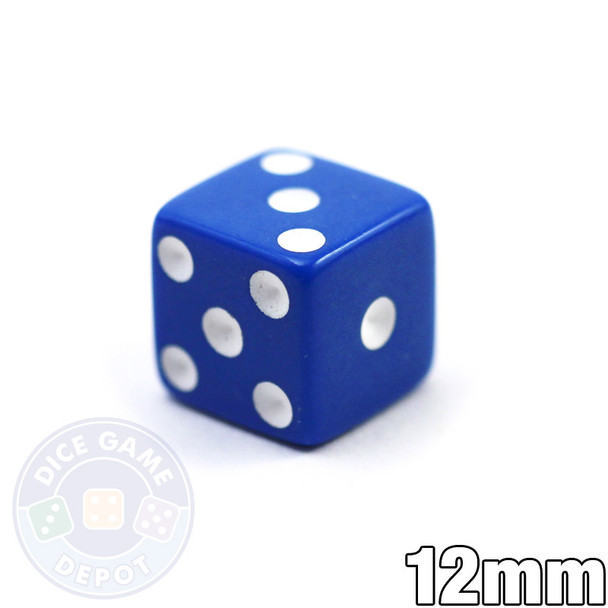 12mm Opaque Blue Dice