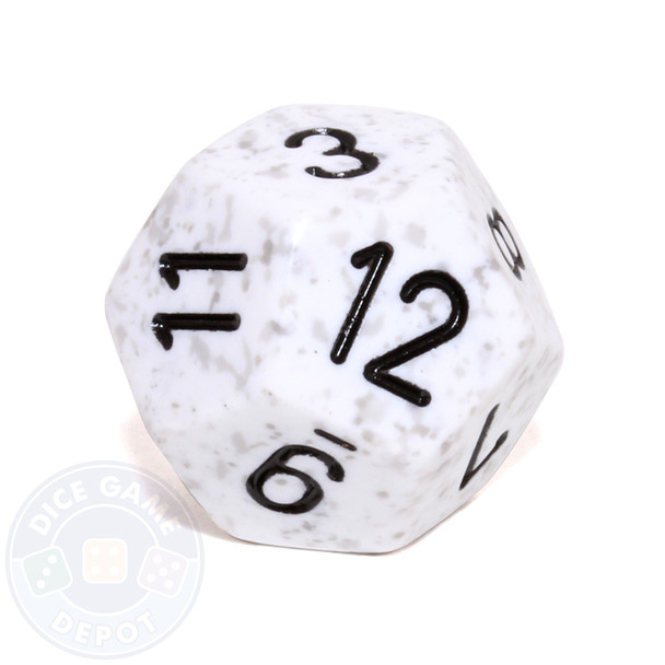 d12 - Speckled Arctic Camo 12-sided Dice