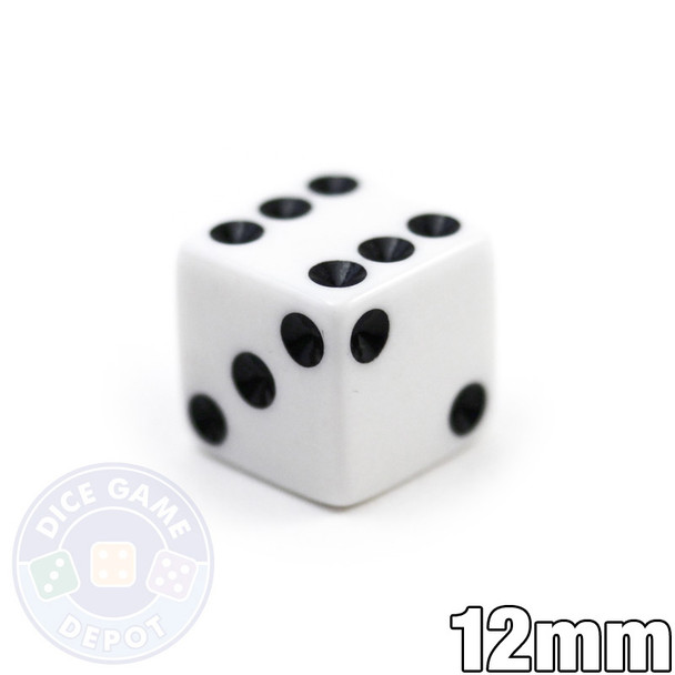 12mm Opaque White Dice