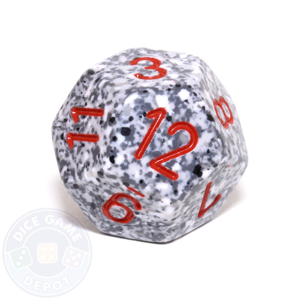 d12 - Speckled Granite 12-sided Dice