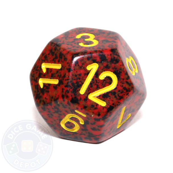 d12 - Speckled Mercury 12-sided Dice