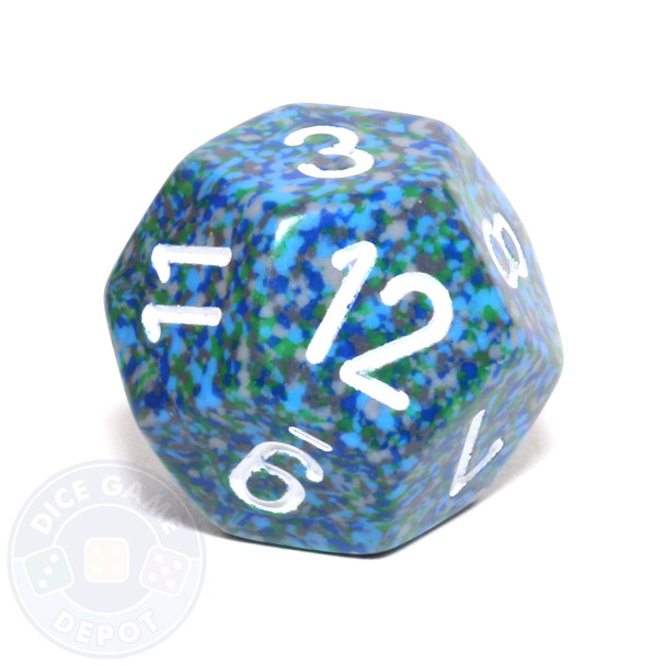 d12 - Speckled Sea 12-sided Dice