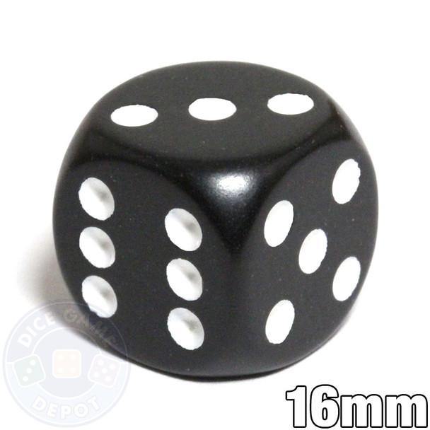 Round-corner dice - 16mm - Black