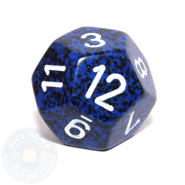 d12 - Speckled Stealth 12-sided Dice
