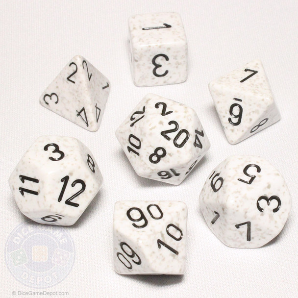 Speckled DnD 7-piece dice set - Arctic Camo