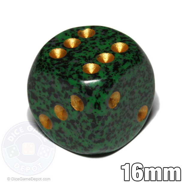 Speckled Golden Recon dice